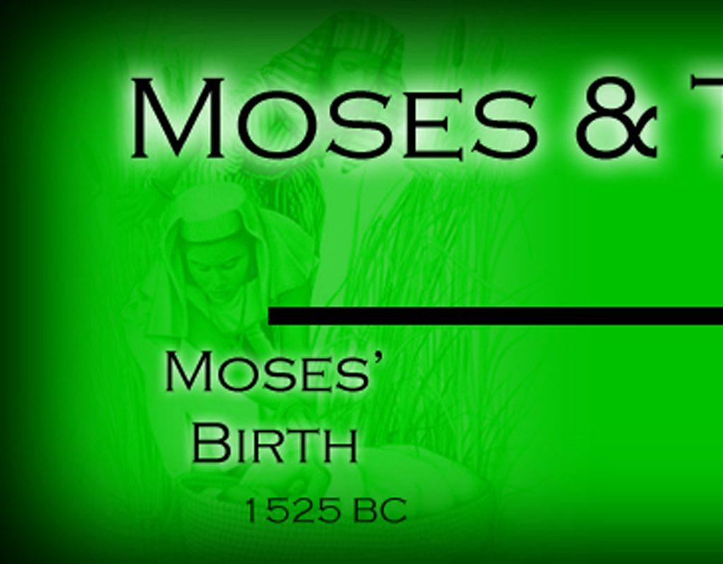 BibleTimelines com : Moses & the Exodus Timeline